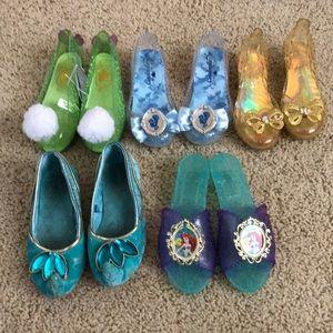 9/10 girls Disney dress up shoes